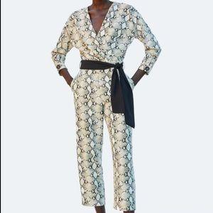 Zara snake print jumpsuit